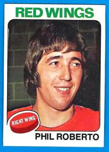 1975-76 Topps PHIL ROBERTO (ex) Detroit Red Wings  A