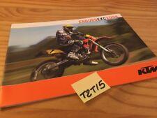 KTM EXC enduro 2004 125 200 250 300 EXC Racing 250 400 450 525 moto prospectus