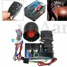 UNIVERSAL CAR ALARM VEHICLE SECURITY SYSTEM KEYLESS 2 REMOTE CONTROL SIREN HORN