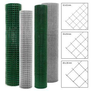 Grillage mailles clôture de jardin fil de volière galvanisée soudé à 4 coins
