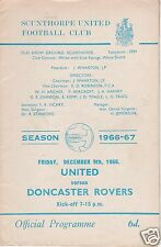SCUNTHORPE UTD V DONCASTER ROVERS  3RD DIVISION  9/12/66