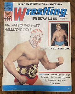 "March 1972 ""Wrestling Revue"" magazine - Mil Mascaras & Terry Funk -RARE!"