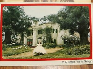 """Gone with the wind CNN Center Plantation House & Scarlet Postcard 4""""X6"""""""