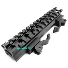 Optics Rifle Scope Angle Mount Double 13-Slot Rail W Integral QD Lever Lock