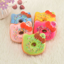 10CM Kitten Bow Soft Squishy Toast Bread Scented Key Chain Phone Tag Strap Toy