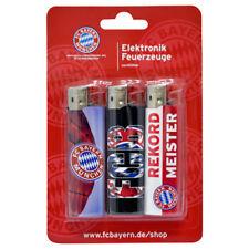 Feuerzeug FC Bayern München | 3 Stück Elektronikfeuerzeug