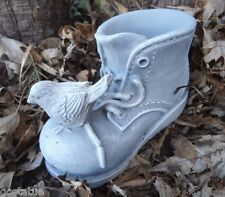 Latex only boot with bird  Mold Plaster concrete mould