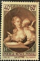"""France #YT446 MNH CV€5.00 1939 Postal Museum Fragonard """"The Letter"""" [B92]"""
