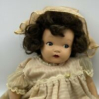 "Antique 21"" Horsman Composition Head/Limbs Doll~Flirty Eyes~With Wig"