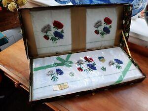 VINTAGE CAUSEWAY IRELAND COTTON BED SET UNUSED BOXED