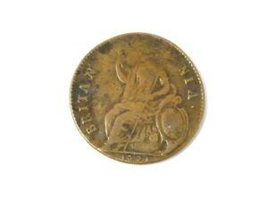 1673 / 5 Charles II Halfpenny HEADLESS Mint Error Weak Die Strike #D99