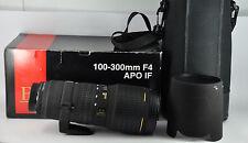 Sigma EX IF HSM 100-300mm F/4 HSM EX Lens nikon boxed