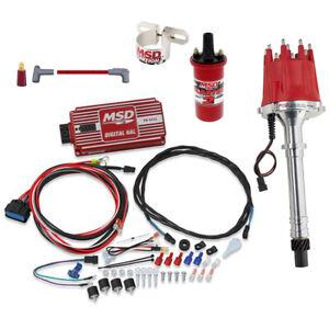 MSD 85551 Chevy V8 Billet Distributor Ignition Kit, 6425/31229
