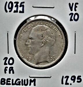 1935 Belgium 20 Francs