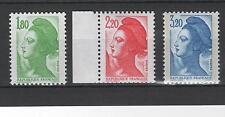 France - n° 2375 à 2377 - timbres neuf **- Type Liberté - MNH