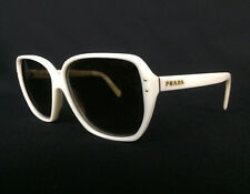 Prada Women's Designer Sunglasses White SPR 16M with Original Box Case Cloth