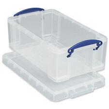 4 Clear Plastic Storage Boxes & Lids for Suspension Files/a4 Size Folders 9l