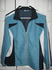 Womens Blue Black White ST JOHN'S BAY Lined Windbreaker Jacket Large