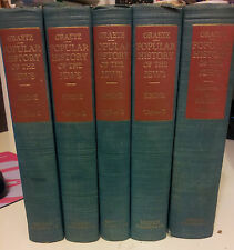 Popular History of the Jews by H.Graetz 1949 Hebrew Publishing Company 5 volumes