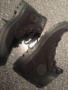 Palladium Womens Pampa High Cuff Black Boots Size 10