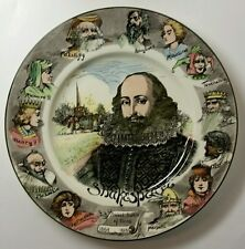 "Royal Doulton England D6303 Shakespeare 10 1/2"" Portrait Plate - Character Rim"