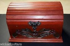 Colombian Handmade Wooden Floral Treasure Chest Wrought Iron Medellin Antioqueno