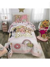 Barbie's Kitty Plush Throw Blanket~Kids Bedding 62 x 90