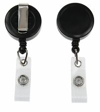 Black Ski Retractable YoYo Badge Reel Lanyard - 1 2 5 or 10. FREE POSTAGE