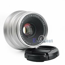 25mm F1.8 HD DISCOVER Wide Angle Lens For Panasonic Olympus Micro4/3 M4/3 CAM【US