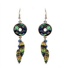 Dream Catcher Fashionable Earrings - Fish Hook - Abalone Paua Shell