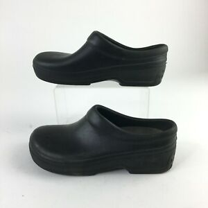 Klog Slip On Mules Clogs Comfort Shoes Womens 8 Casual Round Toe Rubber Black