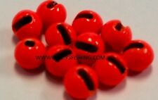 """Tungsten Slotted Fly Tying Beads Hot Orange 2.0 Mm 5/64 """" 100 Count"""