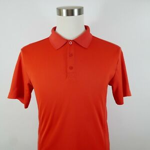 Fila Sport Mens Polyester Short Sleeve Solid Bright Red Polo Shirt Small