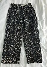 NWT $495 J.Crew Collection Cropped Pant in French Lace size 2 in black and ivory