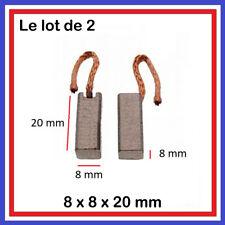2 Balais Charbons 8 x 8 x 20 mm Compresseur Climatisa Ventilateur ...8*8
