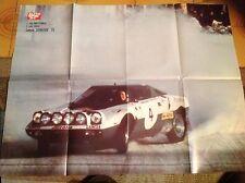 Raro Poster LANCIA STRATOS Rally 1975