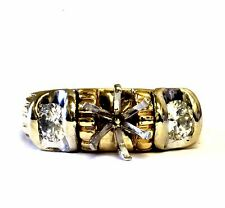 14k yellow gold .52ct SI2 J round diamond engagement semi mount 6.8g ring estate