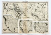 1810 Western United States Map William Clark Chapin 1839 Texas Republic EXRARE