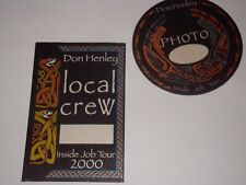 Don Henley 2 Unused 2000 Job Tour Backstage Ticket Passes pass Eagles Rock Usa
