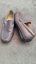 Geox Respira Mens Leather  Brown casual loafer ,Driving shoes .Size uk 7