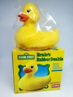 Vintage PLAYSKOOL Sesame Street Ernie's Original Rubber Duckie Bath Toy Ducky