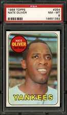 1969 Topps #354 Nate Oliver Yankees PSA 8
