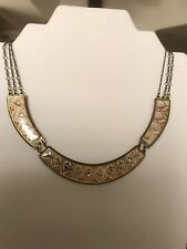 "Michal Negrin ""Niabr"" Enamel & Brass Necklace"