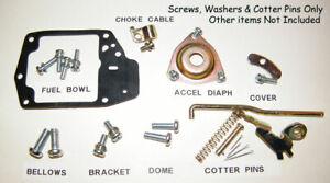 Honda AN600 Sedan AZ600 Coupe Carburetor New Screws, Washers & Cotterpins- READ!