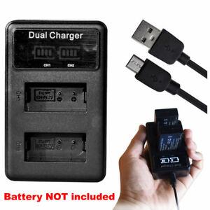 SLIM USB DUAL Battery Charger for Nikon Coolpix A, Coolpix P1000 EN-EL20, -EL20a
