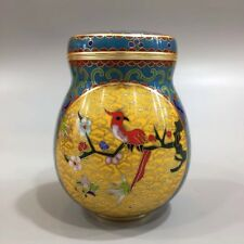 Chinese Antique Fine cloisonne enamel painted plum tea pot