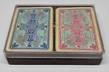 Vintage Ferd Piatnik & Sons Playing Card 2 Decks Vienna Well Used Geometric