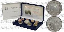 SERIE DIVISIONALE EURO MONETE ITALIA 2004 _ 50° ANN. RAI TELEVISIONE _ PROOF