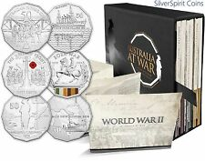 2014-2016 AUSTRALIA AT WAR Complete Set of 18 Coins on Card in Special Book