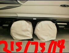 One set of Four new tire covers for Boats,Cars, Rv, Trailers or any other tires.